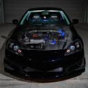 Such a nice Black Acura RSX W/Carbon hood & Crazy Nice Engine!