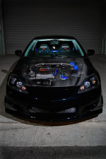Such a nice Black Acura RSX W/Carbon hood & Crazy Nice Engine!