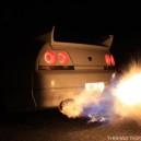 Nissan SkyLine GTR Flames!