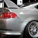 SIlver Acura RSX, on Chrome Rims!