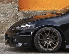 'Black Acura RSX & Bronze Rims - SICK!
