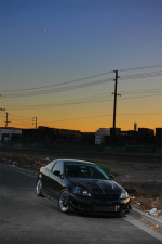 Black Acura RSX In The Sunset Light on Black Rims!