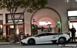 White Lamborghini Sits Nicely On The Street