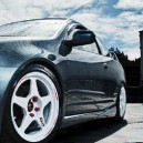 Grey Acura RSX With White Rims – Simply Beautiful!