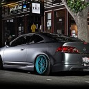 Grey & Silver on blue rims – Slammed Down Beauty!