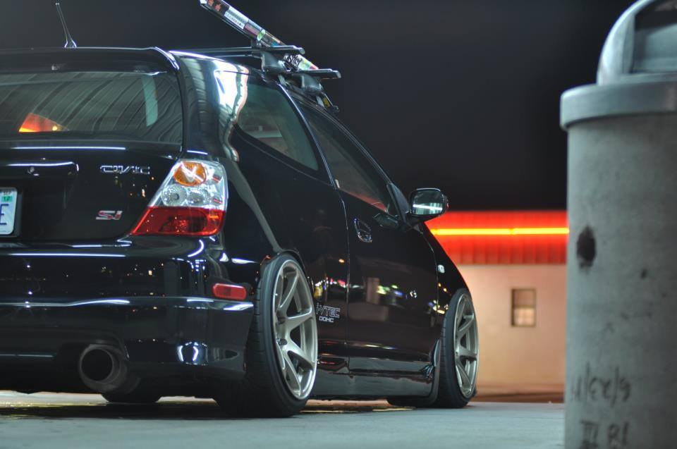 Slammed Black Honda Civic Hatch - Beautiful! - Rpm City