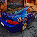 Sick Blue On Gold Graffiti Background Acura RSX!