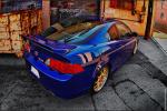 Sick Blue On Gold Graffiti Background Acura RSX!