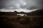 White Lamborghini in country looks beautiful!