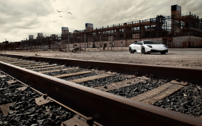 Beautiful Picture Taken Of Lamborghini By Railroad tracks!