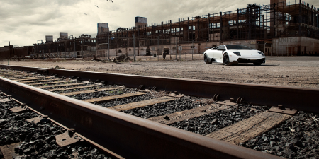 'Beautiful Picture Taken Of Lamborghini By Railroad tracks!