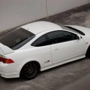 White Acura RSX with Black Rims Type-R Slammed!