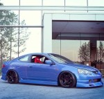Clean Blue on Black Acura RSX Type-S DC5