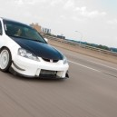 Beautiful White Acura RSX Rolling!