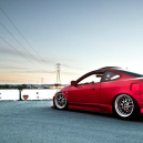 Beautiful Flat Red Acura RSX Type-S