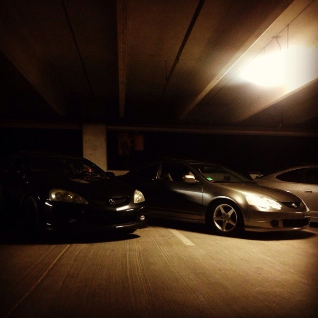 Submitting For Facebook! My Grey Dc5 Next To My Friend