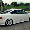 love white white side skirts