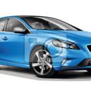 Blue brandless car