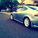 my rsx type s gray w/ white wheels