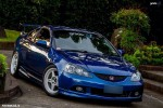 Blue RSX and white rims
