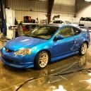 fresh NSX blue paint job
