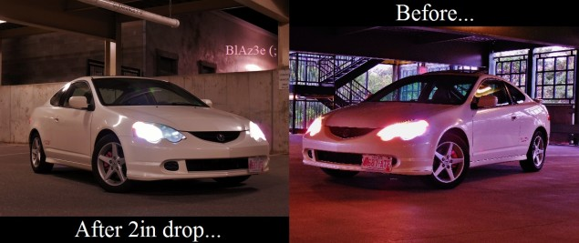 Before And After Lowered On Megan Race Springs Rpm City - Acura rsx lowering springs