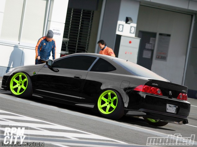 Green RIMS On A RSX YESSPLEASE Rpm City - Acura rsx rims