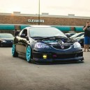 Black RSX & Blue Rims Hood Off!