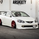"RSX — White with #RED rims.  Worth a ""Like"" ?"