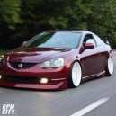 Driving a clean Dc5 on freway.. hellaflush-ed..  comment please